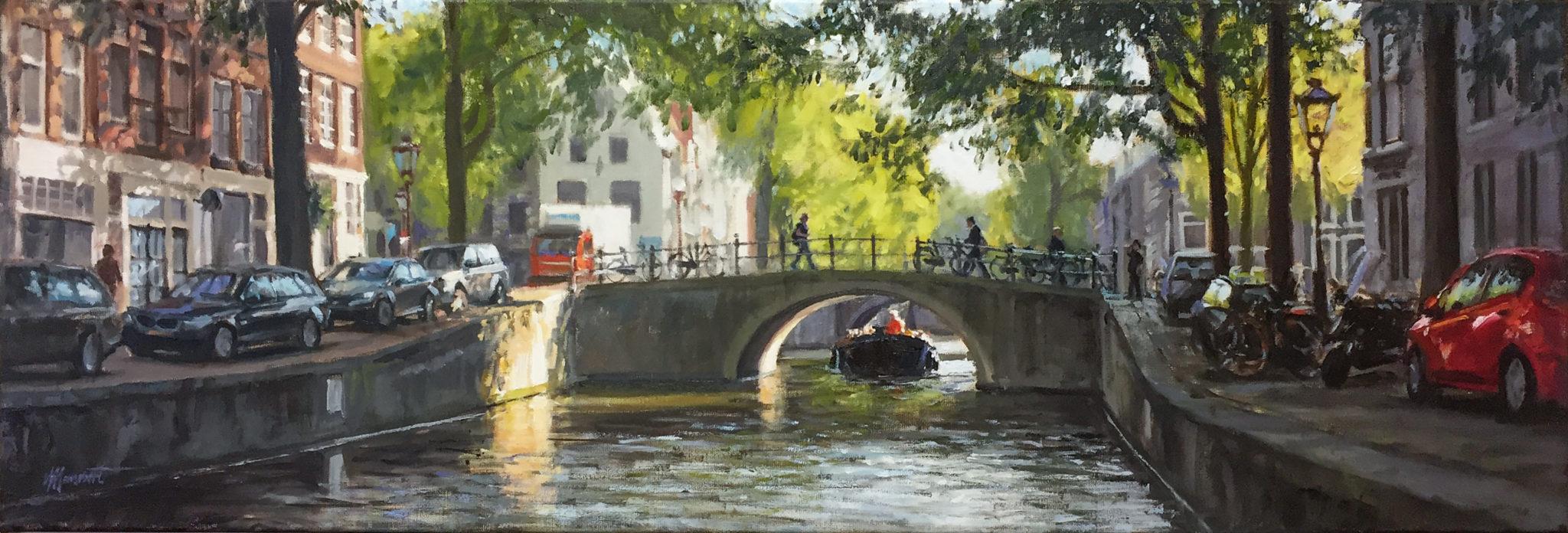 schilderij stad stadsgezicht van maken