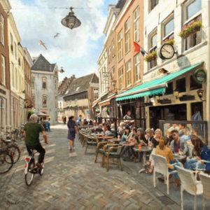 schilderij stadgezicht stad laten maken van