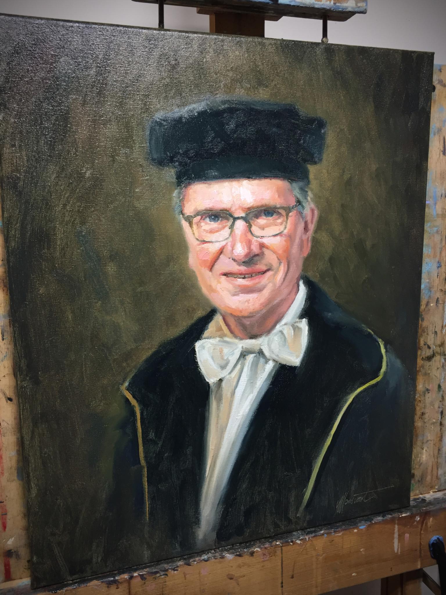 portret in opdracht schilderij